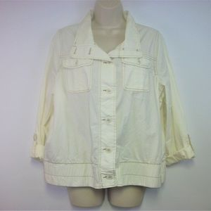 Maurices Plus size 0 Cream Colored Light Jacket